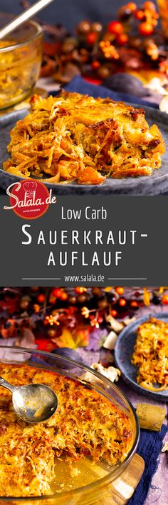 Sauerkrautauflauf mit Hackfleisch und Speck Warming sauerkraut casserole with minced meat in late autumn is balm for the soul. Warm and rich and also full of vitamin C. Healthy, tasty and low in carbo Best Low Carb Recipes, Low Carb Chicken Recipes, Meat Recipes, Law Carb, Valeur Nutritive, Mince Meat, Carne Picada, No Calorie Foods, Low Carb Desserts