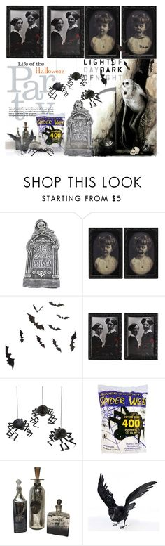 """""""Halloween Party Decor"""" by orietta-rose ❤ liked on Polyvore featuring interior, interiors, interior design, home, home decor, interior decorating, Meri Meri and Buy Seasons"""