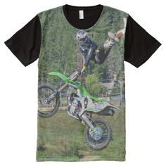 Cool Motocross Extreme Freestyle Stunt All-Over Print T-shirt