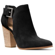 Michael Michael Kors Black Adams Bootie - Women's ($185) ❤ liked on Polyvore featuring shoes, boots, ankle booties, black, kohl boots, black boots, bootie boots, black shootie and ankle bootie boots