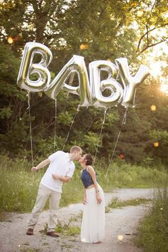 Baby letter balloons - Pregnancy Announcement