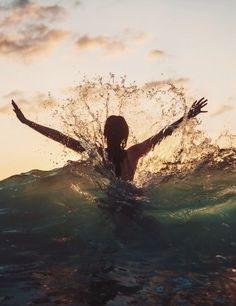 She could slash through the water, fiercely battle the current and conquer every challenge. But make no mistake she was also able to give herself the gift of drifting gently with the current and simply enjoy the swim.