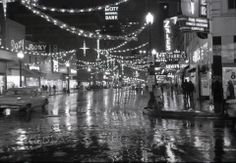 Downtown Houston, Christmas 1960 - seems like it always rained during the Holidays; guess that's why it doesn't bother me when that happens now!