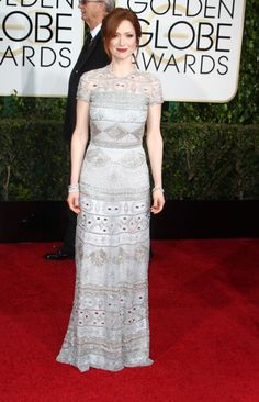 Ellie Kemper in Naeem Khan. This one's my favorite, it's so cool and different.