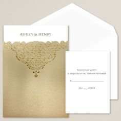 Victorian Bliss Wedding Invitation | Laser cut lace pocket detailing | #exclusivelyweddings