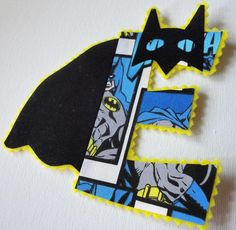 "One 4"" Super Hero Letter Iron On. Must have one made for Eli!!"
