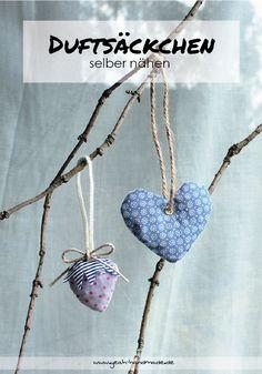 Beautiful DIY Dufts ckchen in verschiedenen Formen selber n hen und mit Lavendel f llen f r den Kleiderschrank oder