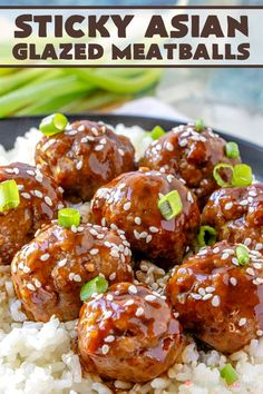 Sticky Asian Glazed Meatballs – Have mercy, y'all … this is one of those meals you really need to give it a try! Sticky Asian Glazed Meatballs – Have mercy, y'all … this is one of those meals you really need to give it a try! Glazed Meatballs Recipe, Asian Meatballs, Meatballs With Rice, Recipes With Meatballs, Frozen Meatball Recipes, Teriyaki Meatballs, Jelly Meatballs, Sweet And Sour Meatballs, Sauce For Meatballs Easy