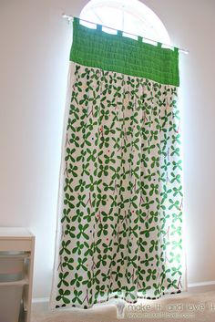 Gathered Top Panel Curtains with Blackout Lining | Make It and Love It