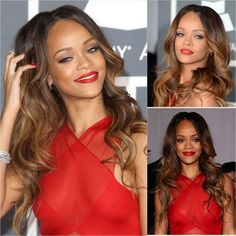 Rihanna's Ombre (from 2013 Grammys Best and Worst Hair)
