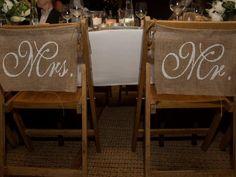 Wedding ideas: Mr and Mrs chairs #weddings #reception #bride #groom