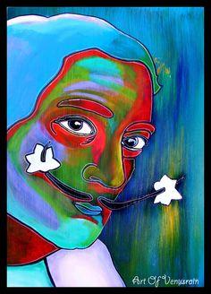Dali in Color: acrylic on Masonite board.
