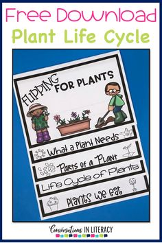 Free Plant Life Cycle Flip Book Printable Plant Life Cycle Activities, projects and a FREE printable for your elementary classroom! Science writing activities and fun learning ideas for students. #flipbook #plants #scienceforkids #writingactivities #freeprintables #conversationsinliteracy #kindergarten #firstgrade #secondgrade #thirdgrade kindergarten, first grade, second grade, third grade