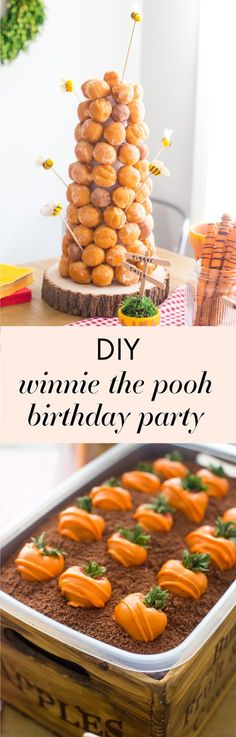 Winnie the Pooh and Friends Birthday Party Ideas Acorn cookies - winnie pooh küche