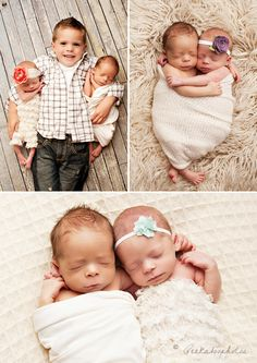 Twins...and big brother! Photo by @peekaboophotos.com.