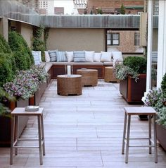 Love the built in seating. Would look great down side patio. #PinMyDreamBackyard
