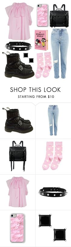 """""""..."""" by virag-lengyel on Polyvore featuring Dr. Martens, Topshop, McQ by Alexander McQueen, Happy Socks, Temperley London, Recover and Olympia Le-Tan"""