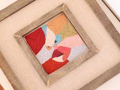 Bordado a mano - Técnica de Punch Needle.  #bordado #hechoamano #embroidery #punchneedle #homedecor Manado, Ethical Fashion, Frame, Home Decor, Hand Made, Needlepoint, Picture Frame, Decoration Home, Sustainable Fashion