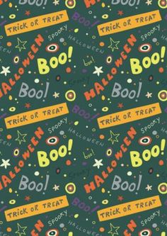 Halloween Scrapbook Paper Boo...print for free!