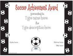 Free printable soccer certificates soccer awards soccer soccer awards for the kids yadclub Images