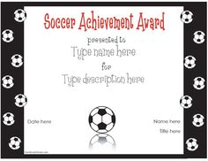Soccer Awards for the Kids