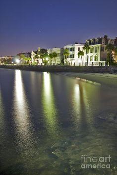 Charleston Photograph - Charleston Battery Row At Dawn by Dustin K Ryan