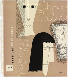 """Book Cover, """"Bookjacket by Alvin Lustig for """"Three Tales"""" by Flaubert, New Directions Books"""", 1947 