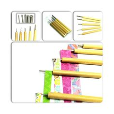 Paper Bead Roller Set of 5 to Roll Paper di GroundZeroCreations