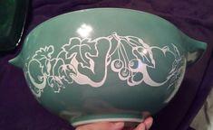 $27.90 Vintage Pyrex Cinderella Promo Fruit Salad Green Bowl #444 #Pyrex#rare#promotional#vintage#antiques#milkglass#kitchenware