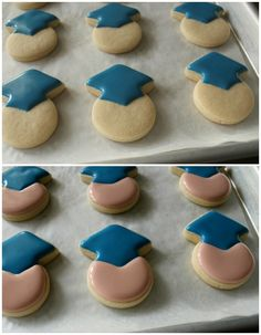 Create your own graduation party desserts! Try these mini graduate cookies from Sweet Sugar Belle