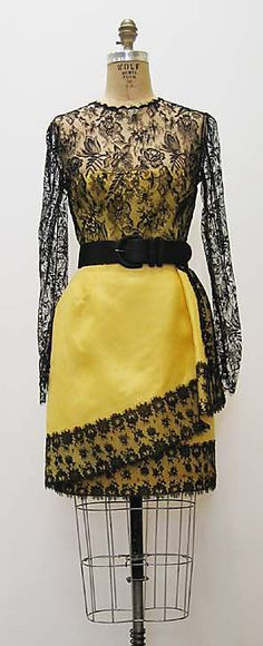 Dress, Bill Blass, 1990s, American, silk and leather