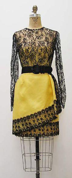 Dress, Bill Blass, 1990s, American, silk and leather