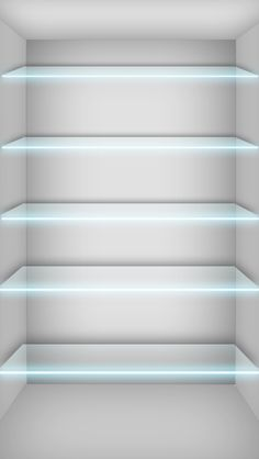 Glass Shelves Wallpaper - Free iPhone Wallpapers