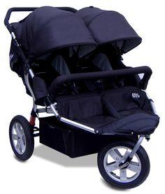 Tike Tech City X3 Double Swivel Stroller - Classic Black