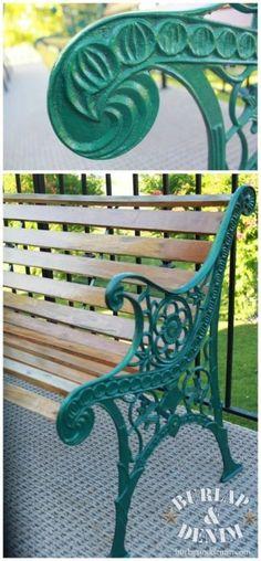 Park Bench Green Makeover