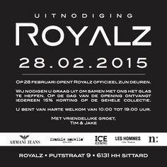 UITNODIGING OPENING ROYALZ SITTARD