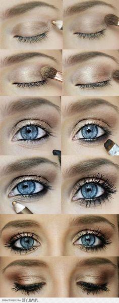 Makijaż ślubny dla niebieskookiej blondynki - whiteDay.… na Stylowi.pl