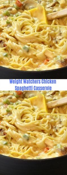 Weight Watchers Chicken Spaghetti Casserole #Weight Watchers#Spaghetti#Casserole#Chicken