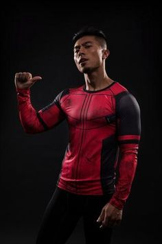 Deadpool Long Sleeve Compression Shirt - Novelty Force