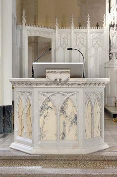 Daprato Rigali altars & furnishings are custom designed and fabricated in studio.