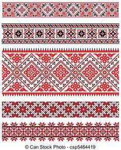 Ukrainian folk pattern