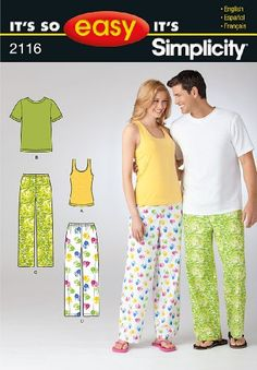 Simplicity Pattern 2116 It's So Easy Misses Sleepwear Size, 8 -18 / XS -XL Simplicity http://www.amazon.co.uk/dp/B00BXHG8IW/ref=cm_sw_r_pi_dp_OeN1ub08AK8WV