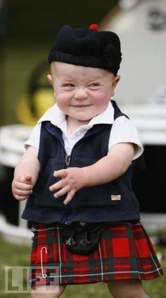 Little Scotish boy in a kilt...
