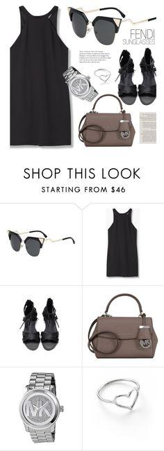 """Style"" by smartbuyglasses ❤ liked on Polyvore featuring Fendi, MANGO, Michael Kors, Jordan Askill and black"
