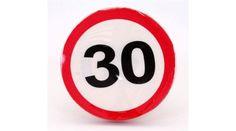 30. szülinapra sebességkorlátozó tábla szalvéta, Nicol Party Kellék Bolt Lululemon Logo, Company Logo, Logos, Logo