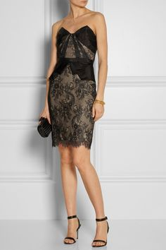 Notte by Marchesa Lace and organza dress NET-A-PORTER.COM
