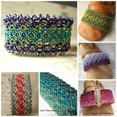 Micro macrame bracelet collage by Knot Just macrame