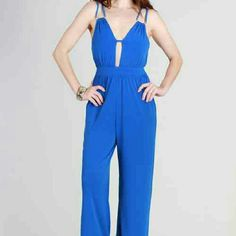 31b1b0a41854 😁😁🌷Royal blue jumpsuit 😁😁 Full pants length jump suit ..very