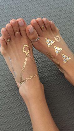 beachy dreamy metallic toes http://www.tribetats.com/collections/shop-metallic-jewelry-tattoos/products/antigua-metallic-jewelry-tattoos