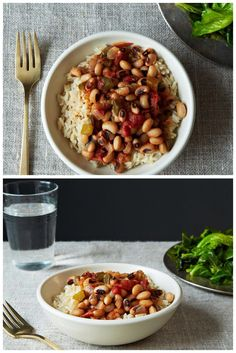 Vegan Hoppin' John - This traditional Southern New Year's dish loses none of its characteristic flavor or heartiness when it gets a vegan makeover. - Serves 6